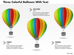 1214 Three Colorful Balloons With Text Powerpoint Template