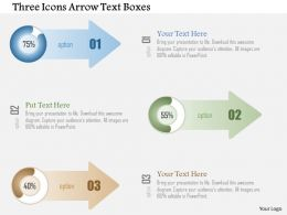 1214 Three Icons Arrow Text Boxes Powerpoint Template