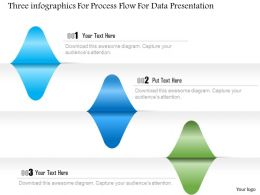 1214 Three Infographics For Process Flow For Data Presentation Powerpoint Template