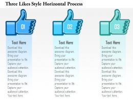 1214 Three Likes Style Horizontal Process Powerpoint Template