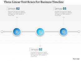 1214 Three Linear Text Boxes For Business Timeline PowerPoint Template