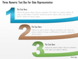 1214 Three Numeric Text Box For Data Representation Powerpoint Template