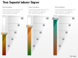 1214 Three Sequential Indicator Diagram Powerpoint Template