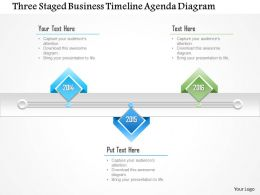 1214 Three Staged Business Timeline Agenda Diagram PowerPoint Template