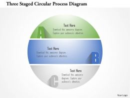 1214 Three Staged Circular Process Diagram Powerpoint Template