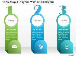 1214 Three Staged Diagram With Internet Icons Powerpoint Template