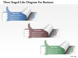 1214 Three Staged Like Diagram For Business Powerpoint Template