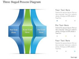1214 Three Staged Process Diagram Powerpoint Template