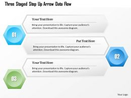 1214 Three Staged Step Up Arrow Data Flow Powerpoint Template