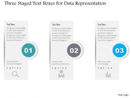 1214 Three Staged Text Boxes For Data Representation Powerpoint Template