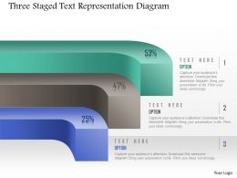 1214 Three Staged Text Representation Diagram Powerpoint Template