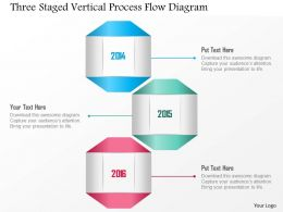 1214 Three Staged Vertical Process Flow Diagram Powerpoint Template