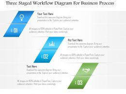 1214 Three Staged Workflow Diagram For Business Process PowerPoint Template