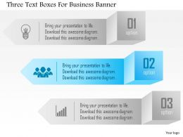 1214 Three Text Boxes For Business Banner Powerpoint Template