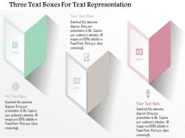 1214 Three Text Boxes For Text Representation Powerpoint Template