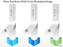 1214 Three Text Boxes With Vector Illustration Design PowerPoint Template