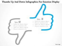 1214 Thumbs Up And Down Infographics For Emotion Display PowerPoint Template
