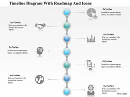 1214 Timeline Diagram With Roadmap And Icons PowerPoint Presentation
