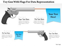 1214 Toy Gun With Flags For Data Representation PowerPoint Presentation
