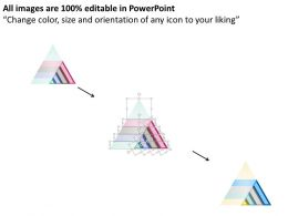 90921672 Style Layered Pyramid 4 Piece Powerpoint Presentation Diagram Infographic Slide