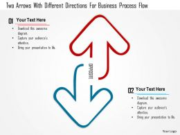1214_two_arrows_with_different_directions_for_business_process_flow_powerpoint_template_Slide01