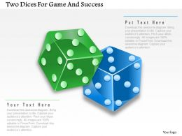 1214 Two Dices For Game And Success Powerpoint Template