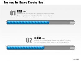 1214 Two Icons For Battery Charging Bars Powerpoint Template
