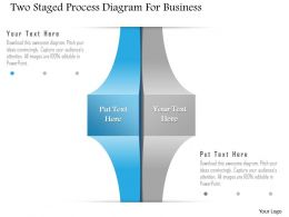 1214 Two Staged Process Diagram For Business Powerpoint Template