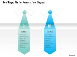 1214 Two Staged Tie For Process Flow Diagram Powerpoint Template