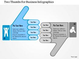 1214 Two Thumbs For Business Infographics PowerPoint Template