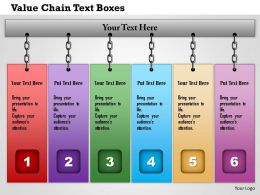 1214 Value Chain Text Boxes Powerpoint Presentation
