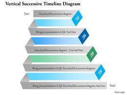 1214 Vertical Successive Timeline Diagram Powerpoint Template