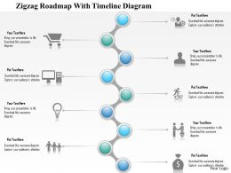 1214 Zigzag Roadmap With Timeline Diagram PowerPoint Presentation