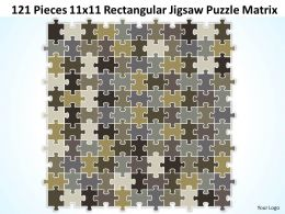 121 Pieces 11x11 Rectangular Jigsaw Puzzle Matrix Powerpoint templates 0812