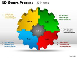 12 3D Gear Process 5 Pieces