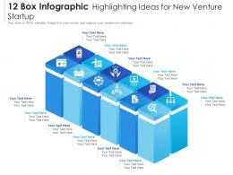 12 Box Infographic Highlighting Ideas For New Venture Startup