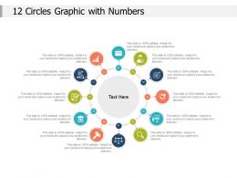 12 Circles Graphic With Numbers