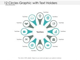 12 Circles Graphic With Text Holders