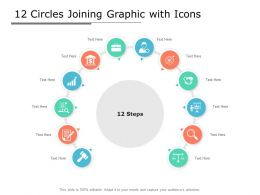12 Circles Joining Graphic With Icons