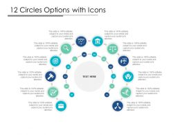 12 Circles Options With Icons