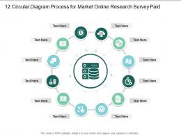 12 Circular Diagram Process For Market Online Research Survey Paid Infographic Template