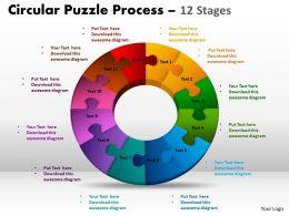 12 Components Circular Puzzle Process