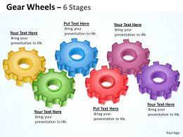 12 Gear Wheels 6 Stages
