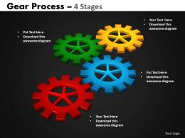 12 Gears Process 4 Stages Style 2 Powerpoint Slides