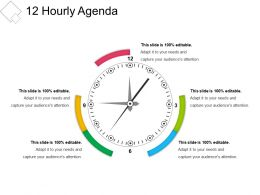 12 Hourly Agenda Presentation Layouts