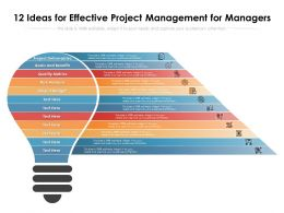 12 Ideas For Effective Project Management For Managers