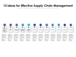 12 Ideas For Effective Supply Chain Management