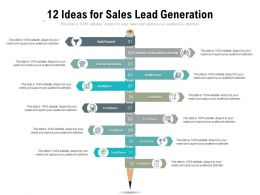 12 Ideas For Sales Lead Generation