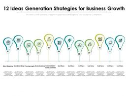 12 Ideas Generation Strategies For Business Growth