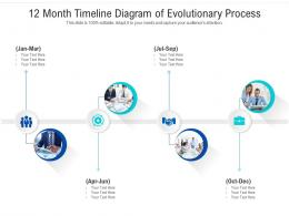 12 Month Timeline Diagram Of Evolutionary Process Infographic Template